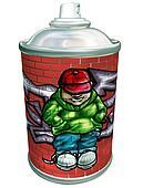 Graffiti art aerosol can