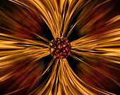 Meteor Flames of Fire Horizon Warp Perspective Background