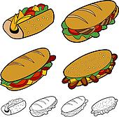 Cartoon Sandwich Set