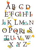Cute cartoon alphabet