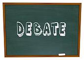 Debate Chalkboard Word Learning School Education Class