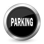 parking black icon