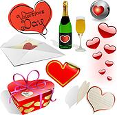 Valentines day vector set.