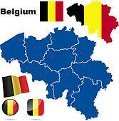 Belgium vector set.