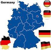 Germany vector set.