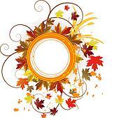 autumn grunge floral banner