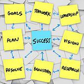 Success in an Organization - Sticky Notes
