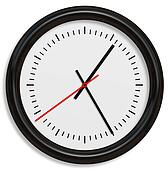 Classical Simple Clock Face with Arrows in White backgrounds