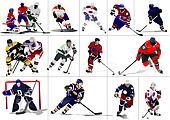 Ice hockey players