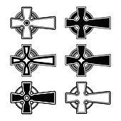 Irish, Scottish celtic cross vector