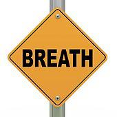 3d road sign breath