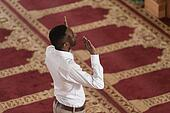 African Prayer At Mosque