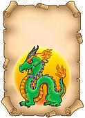 Parchment with Chinese dragon