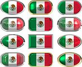 12 buttons of the Flag of Mexico
