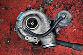 Old worn out turbocharger of a turb