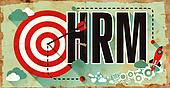 Business Concept. HRM on Grunge Poster.