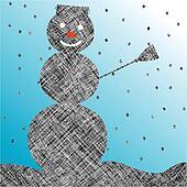 striped snow man