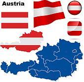 Austria vector set.