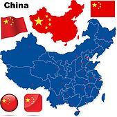 China vector set.