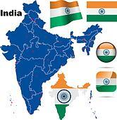 India vector set.