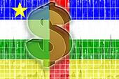 Flag of Central African Republic finance economy
