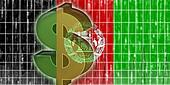 Flag of Afghanistan finance economy