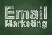 Business concept: Email Marketing on chalkboard background