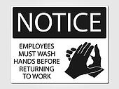 Employees must wash sign