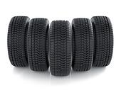 High detaled tyres isolated on white background