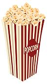 picture of box of popcorn with corns till the top