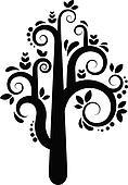 Vector tree silhouette