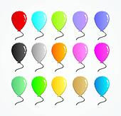 set of colorful rubber balloon