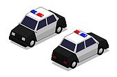 Orthographic police car