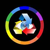 Color wheel-Eye-Look