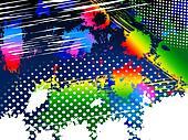 Color Splash Shows Paint Colors And Splat