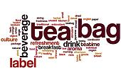 Tea bag word cloud