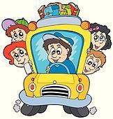 School bus with children
