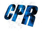 Medicine concept: CPR on Digital background