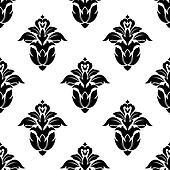Seamless pattern of floral motifs