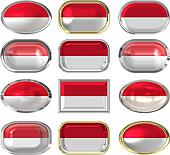 twelve buttons of the Flag of Indonesia