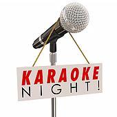 Karaoke Night Microphone Sign Advertising Fun SInging Party