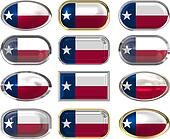 12 buttons of the Flag of Texas