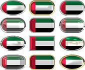 12 buttons of the Flag of United Arab Emirates