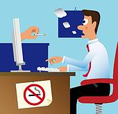 Do not smoke in the office!