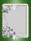 Roses border invitation template