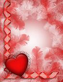 Valentine background red hearts