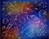Space set color background