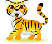 Funny tiger cartoon