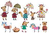 Set cartoon characters