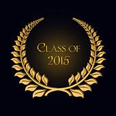 gold laurel for 2015 graduation
